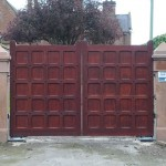 Hardwood Driveway Entrance Gates by Hesket Timber Buildings & Joinery