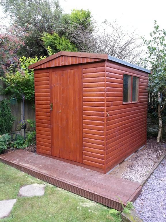 839; x 639; Timber Garden Shed, Whitehaven Cumbria  Premium